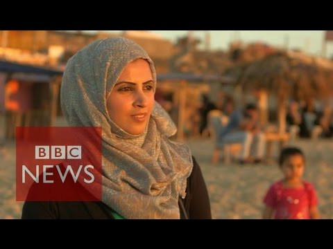 Life as a nurse in Gaza  - BBC News