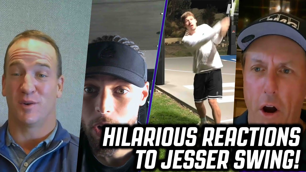 Steph Curry, Peyton Manning, Charles Barkley, & Phil Mickelson REACT to JESSER'S Golf Swing!