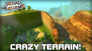 Multiplayer Edited Terrain Race! (Scrap Mechanic #242)
