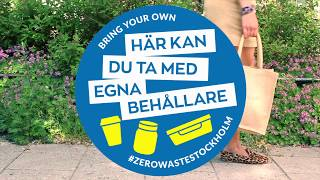 REDUCE WASTE -Bring Your Own Container