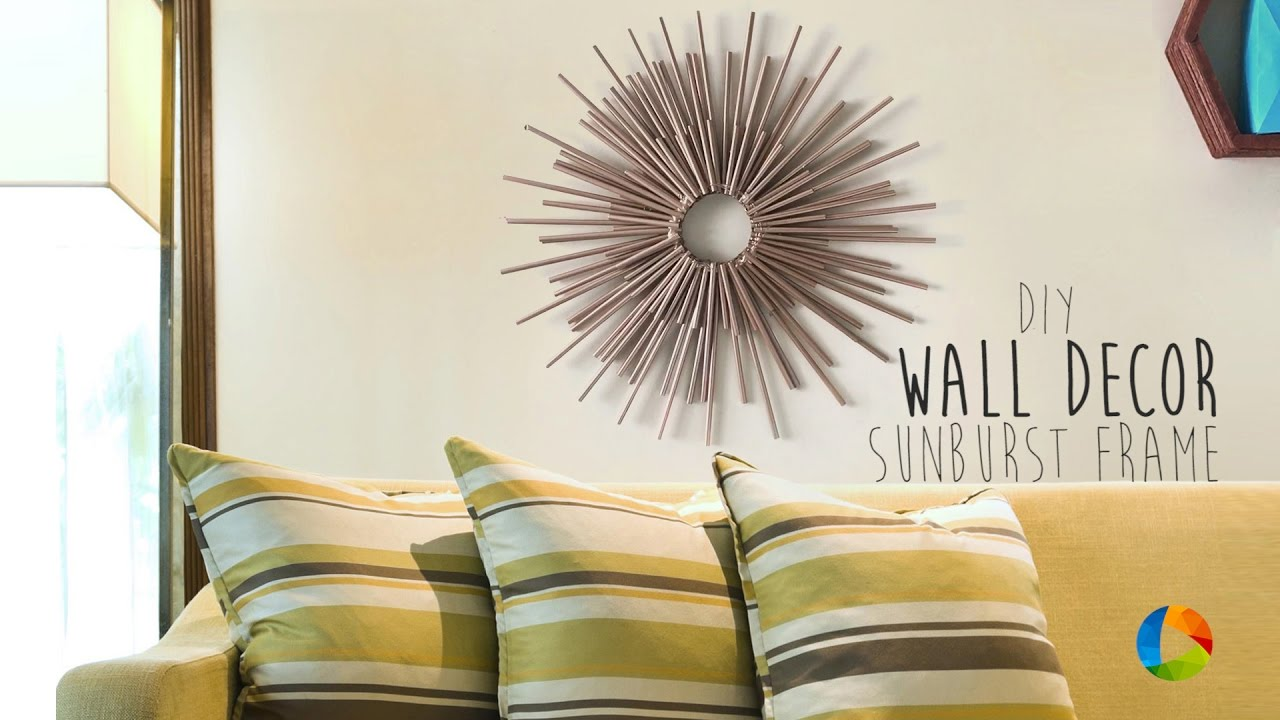 DIY : Wall Decor (Sunburst Frame) - YouTube