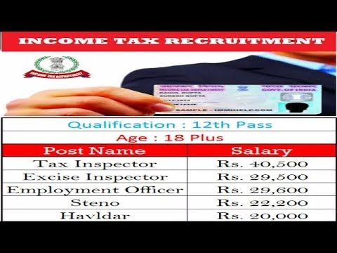 Upcoming vacncy income tax department-2017/2018 l 12/Bcom/pass l
