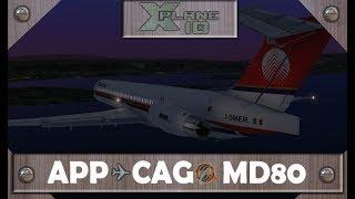 ILS Aproach RWY02 CAGLIARI | X-Plane 10 | MD80 Rotate