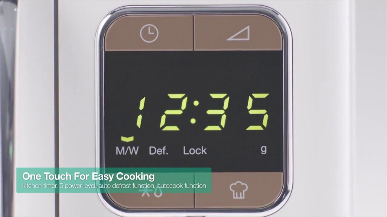 Daewoo KOR 6LBC Retro Microwave Oven - YouTube