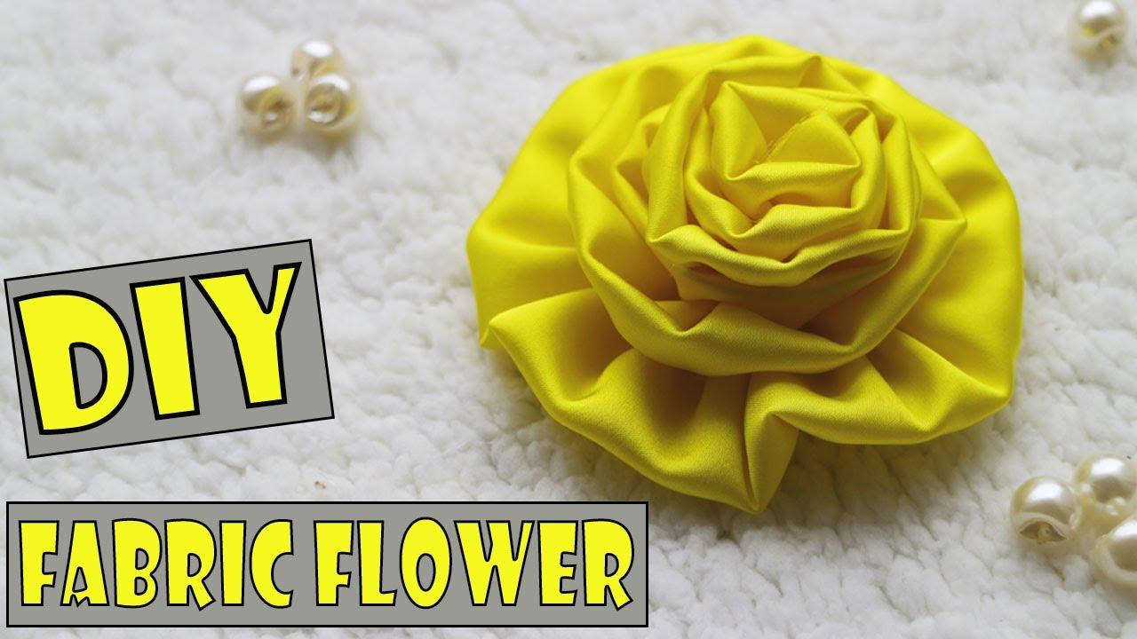 How To Make A Fabric Flower- Part 1 | CÁCH LÀM HOA VẢI SIÊU DỄ | Ặt Củ Tỏi DIY