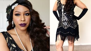 Makeup Monday: 1920s/Flapper Inspired Makeup, Hair, & Dress! | TheHeartsandcake90