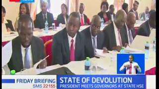Uhuru meets governors at State House