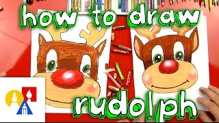 how to draw rudolph