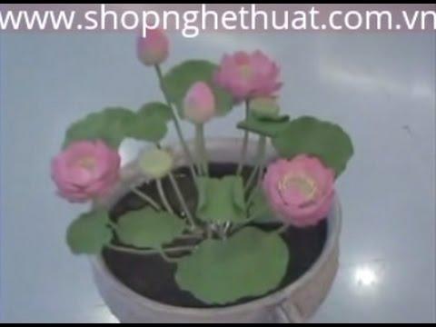 Đất sét Nhật - Dạy cách làm hoa đất sét - Hoa Sen P1