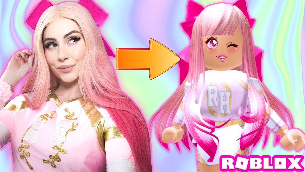 [VIDEO] - I BECAME A ROYALE HIGH CHEERLEADER IN REAL LIFE! Roblox Royale High IRL 9