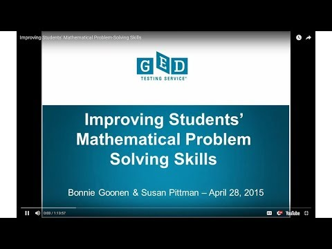Tuesdays for Teachers Webinar Series: Improving Students' Ma