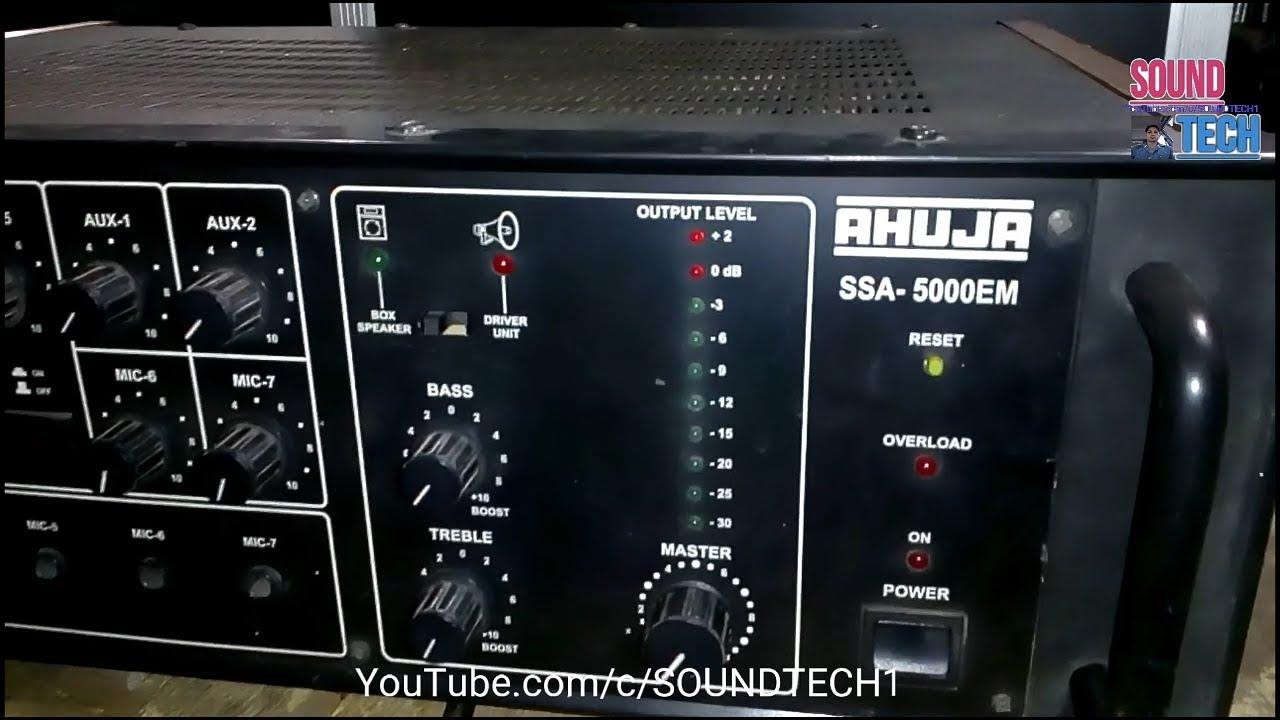 Ahuja Ssa 5000em Power Amplifier Hindi Youtube