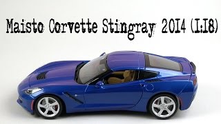 Розпакування Maisto Corvette Stingray 2014 (1:18)