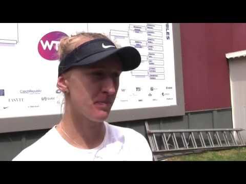 Tereza Smitková po porážce v 1. kole J&T Banka Prague Open