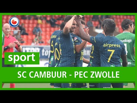 Sport Cambuur Wint Van Eredivisionist Pec Zwolle Youtube