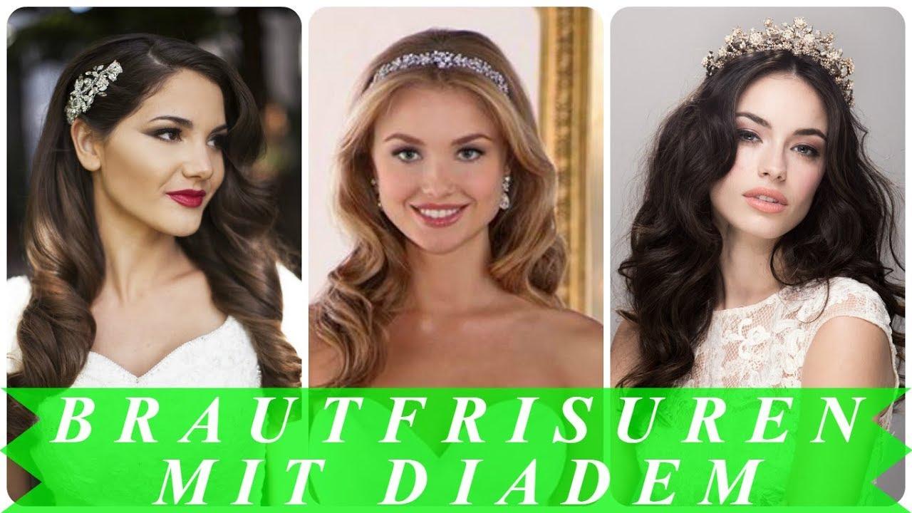 Brautfrisuren Mit Diadem Und Schleier 2018 Youtube