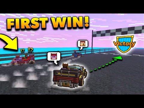 FIRST EVER WIN IN RACING MINI-GAME! | Pixel Gun 3D - New Update 16.1.0 [Review]