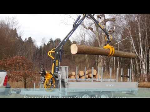 Forstner F3  PKW Anhänger mit Forstkran 1