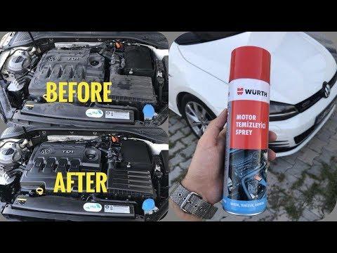 Würth Engine Cleaner   Motorreiniger   Motor Temizleyici   VW Golf 7   POV   Susuz Motor Temizleme
