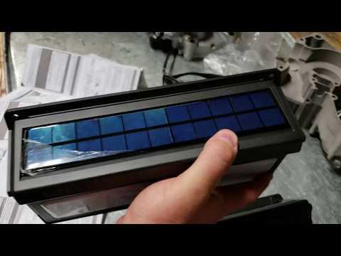 BAXIA Technology Solar Lights Outdoor, Wireless 100 LED Solar Motion Sensor Lights UNBOXING SETUP