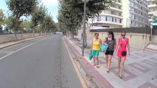 Дорога от отеля MedPlaya Santa Monia Calella Испания до пляжа