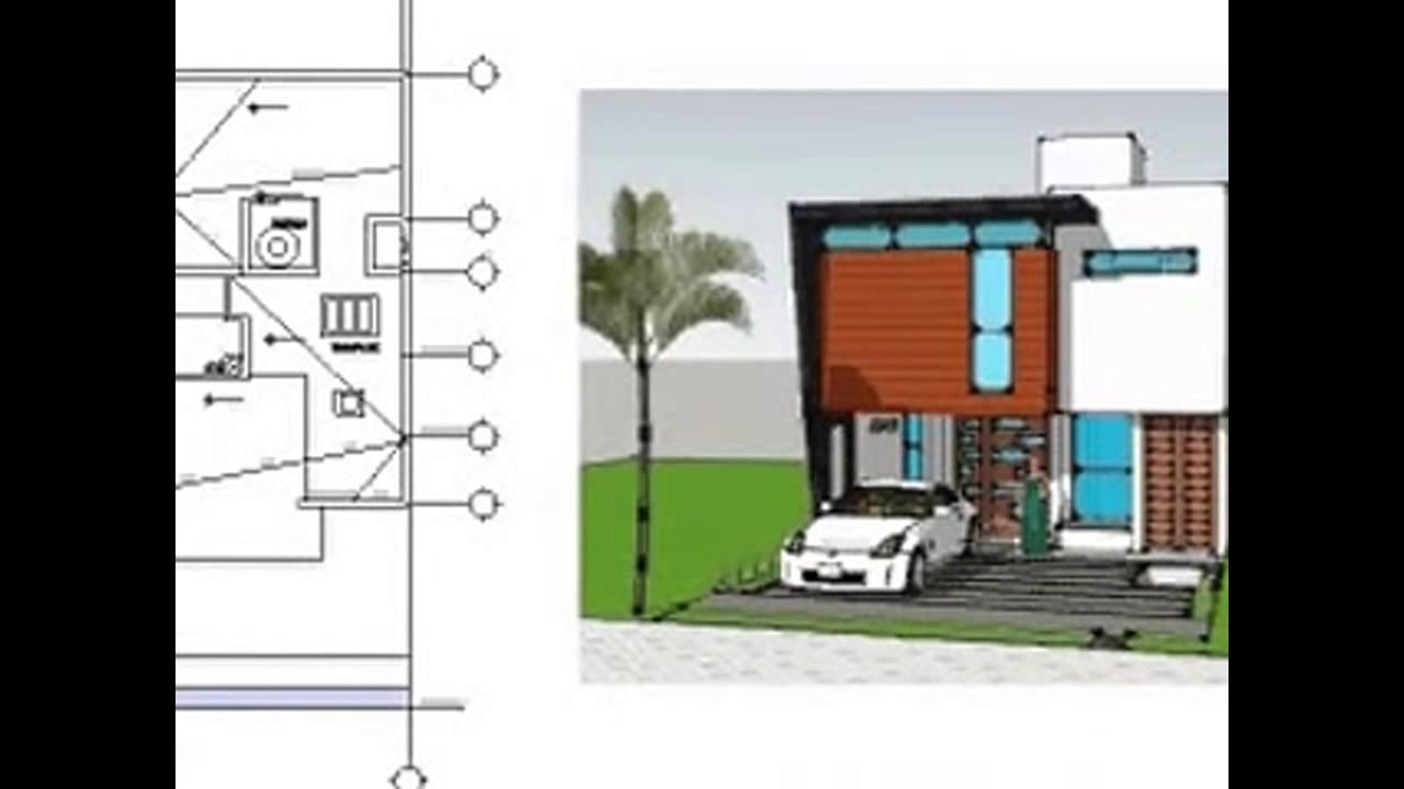 Plano casa 7 x 20 mt youtube for Casa moderna 7x20