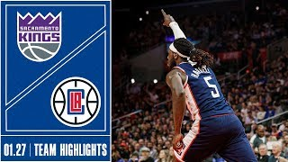Clippers vs. Kings Game Highlights | 1/27