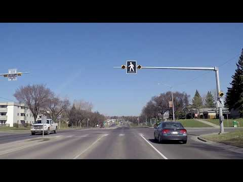 Driving in Calgary AB (Alberta) Canada - Houses/Homes - Tour of City - Residential Area 2018