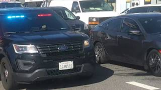 8 LAPD Unmarked Police Cars Responding