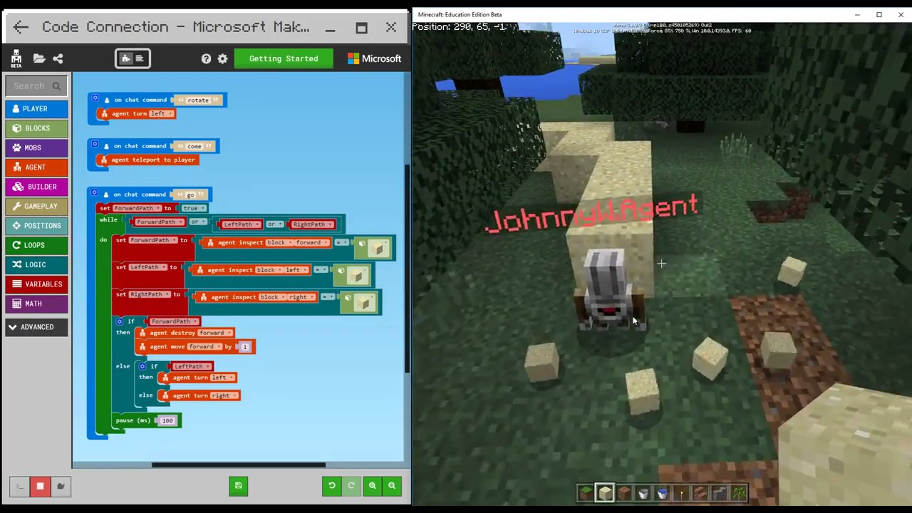 """Résultat de recherche d'images pour """"code builder minecraft"""""""