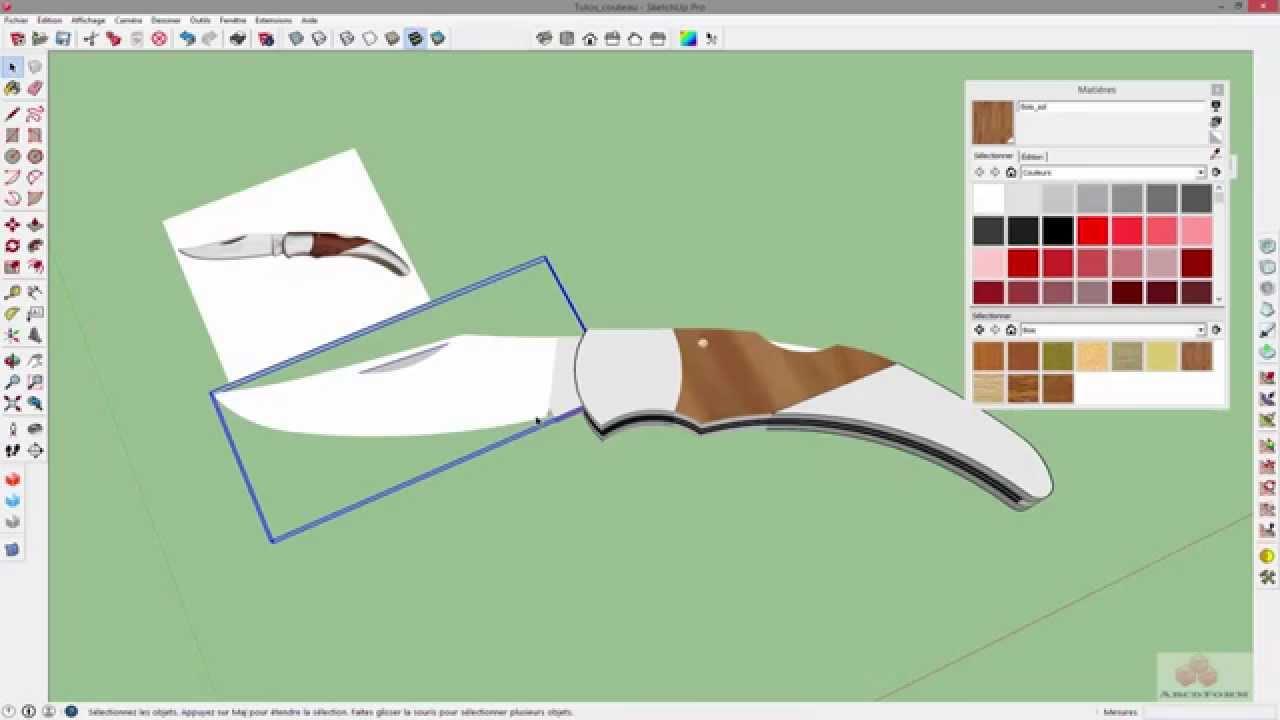 32 sketchup dessiner facilement un objet partir d 39 une photo youtube. Black Bedroom Furniture Sets. Home Design Ideas