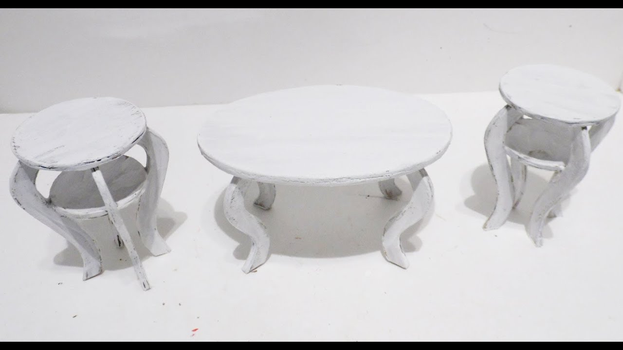 how to make doll shabby chic coffee table u0026 chairs youtube