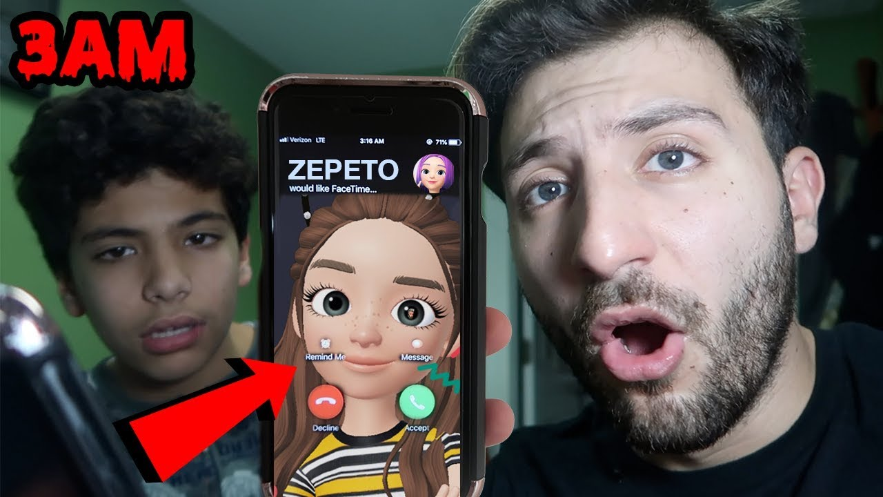 (I CAN SEE YOU) DONT PLAY ZEPETO APP AT 3AM | CALLING ZEPETO APP ON  FACETIME AT 3AM