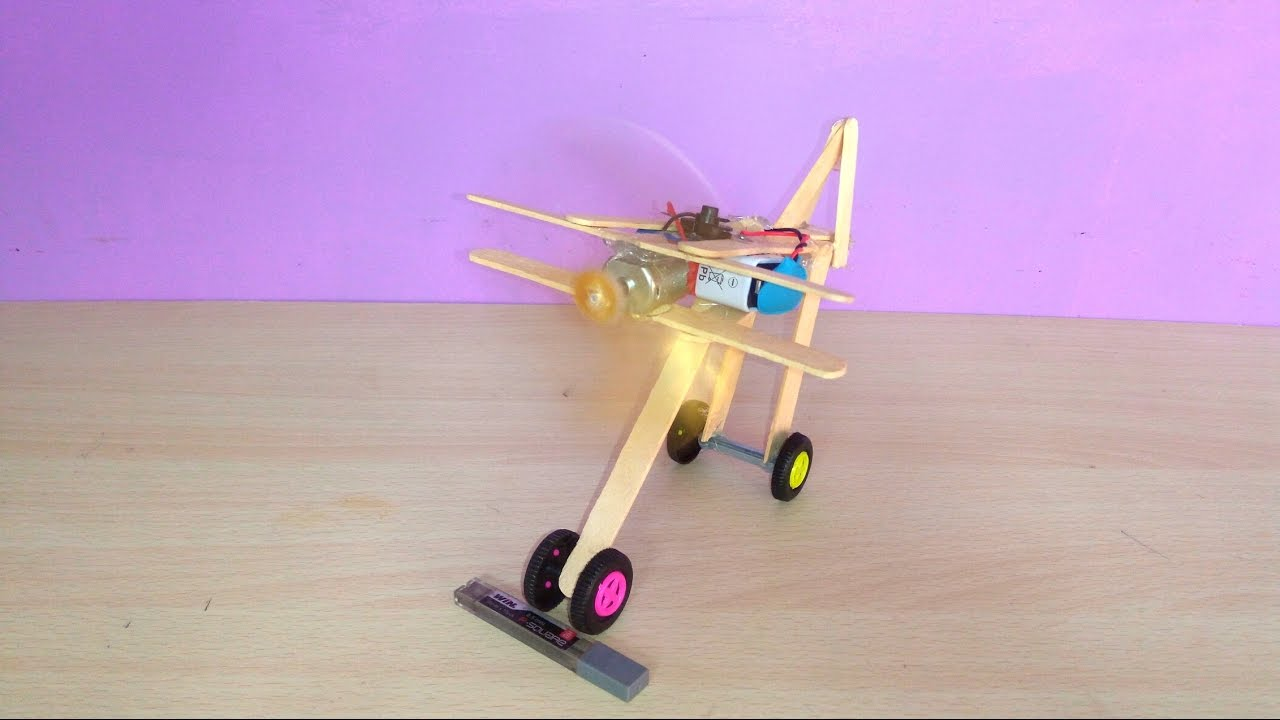 How To Make A Airplane With Ice Cream Sticks Simple Step By Step