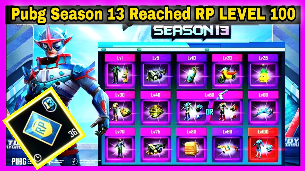 PUBG SEASON 13 REACHED RP LEVEL 100 |36 RP MISSION CARD IN TAMIL|HOW TO GET PUBG PERFECTIONIST TITLE