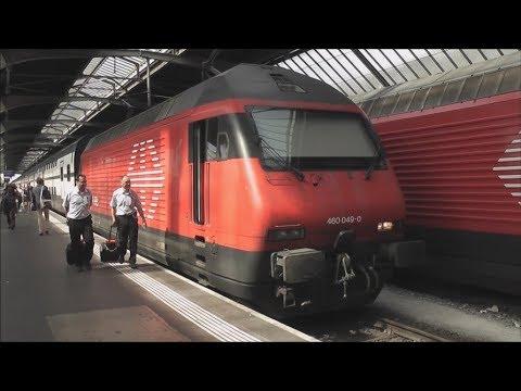 Full Train Journey: SBB CFF FFS Zurich HB/Main - Airport/Flughafen