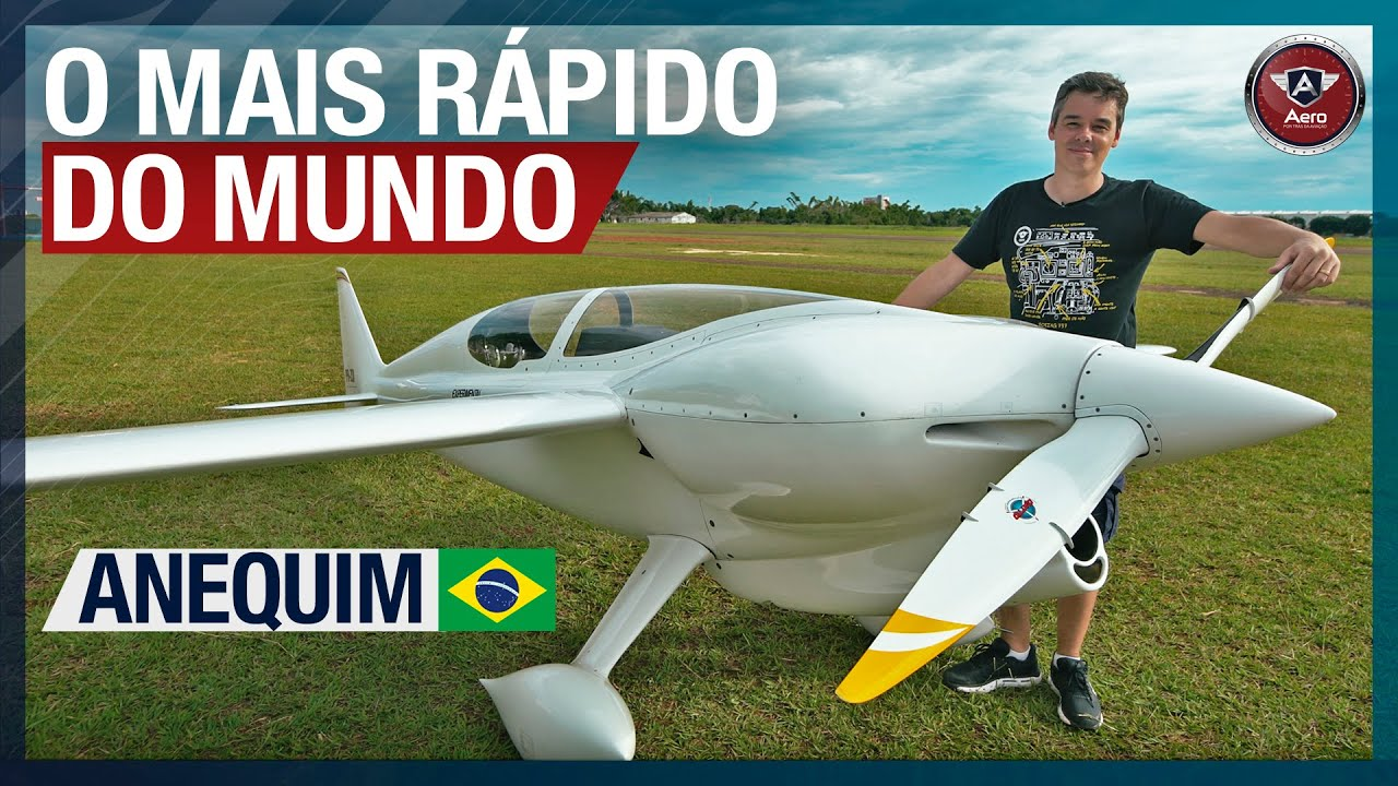 O AVIÃO monomotor a pistão MAIS RÁPIDO DO MUNDO É BRASILEIRO - Conheça o CEA- 311 Anequim