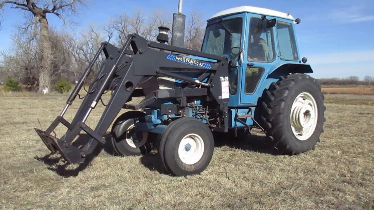 1982 Ford 7710 2WD Tractor W/Westendorf TA-29 Self Leveling Quick Tach  Loader
