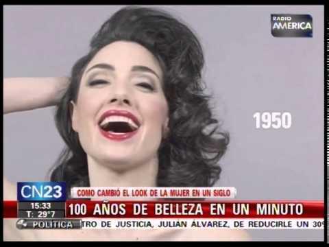 bf965963a 100 AÑOS DE BELLEZA EN 1 MINUTO - COMO CAMBIO EL LOOK DE LAS MUJERES ...