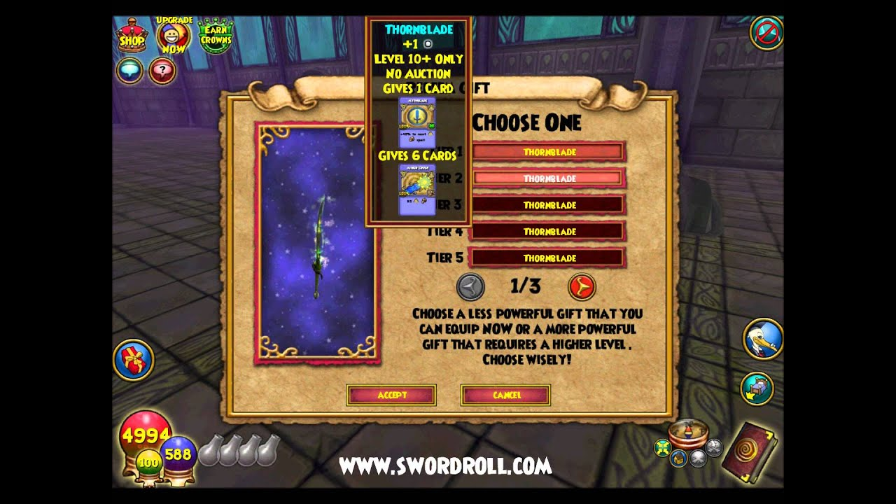 Wizard101 Evergreen Bundle All Gear and Wand Tiers