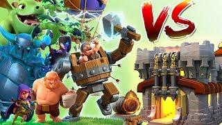Builder Base Troops vs Home Village || Clash of Clans