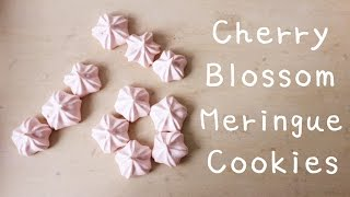 How to make Cherry Blossom Meringue Cookies 櫻花蛋白餅