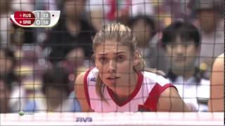 Russia vs Serbia   2015 FIVB Volleyball Women
