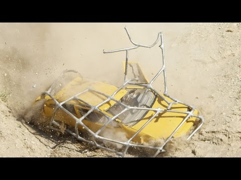 Redneck Drives a Duct Taped Car Off a Cliff!