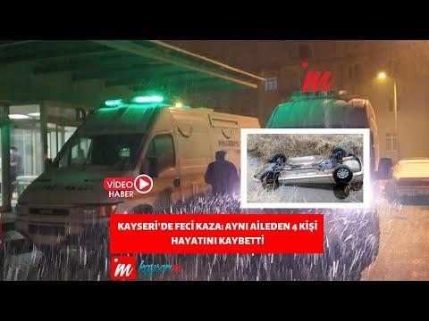 Kayseri'de Feci Kaza: Aynı Aileden 4 Kişi Hayatını Kaybetti