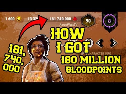 How I got 180 Million Bloodpoints on Dead by Daylight