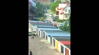 Pościg za napastnikiem - Bartoszyce - antyterroryści