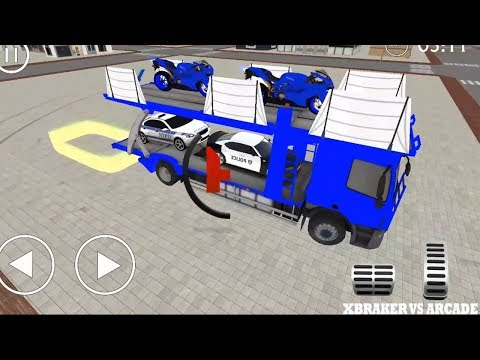 Police Airplane Transporter Track Game All Mission Completed - Android GamePlay FHD