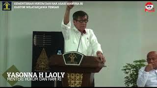 Pembekalan CPNS Kanwil Kemenkumham Jateng dan DIY oleh Menkumham RI di Semarang