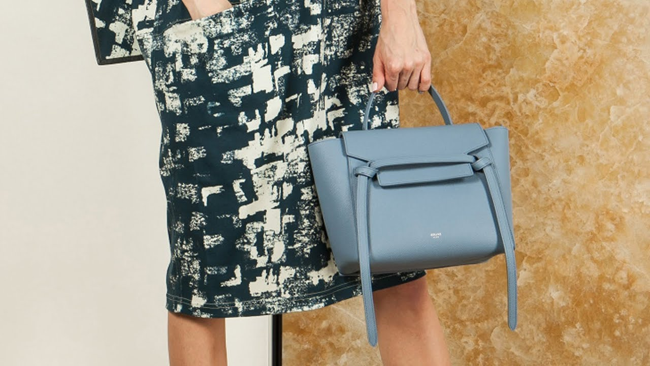 2fd20a97db93 Женская сумка Belt bag micro от Celine, матовая кожа, review: ID 161962